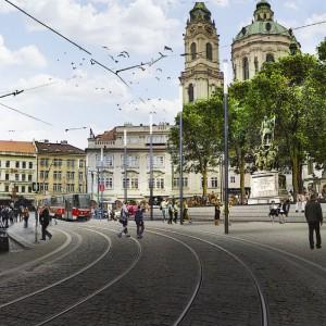 Revitalizace Malostranského náměstí je možná prakticky ihned. V definitivní podobě by měla reflektovat zmenšený tranzit.