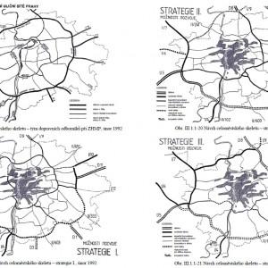 Alternativy přehodnocení ZÁKOSu z roku 1993. Zdroj: Dokumentace EIA pro severovýchodní sekci MO.